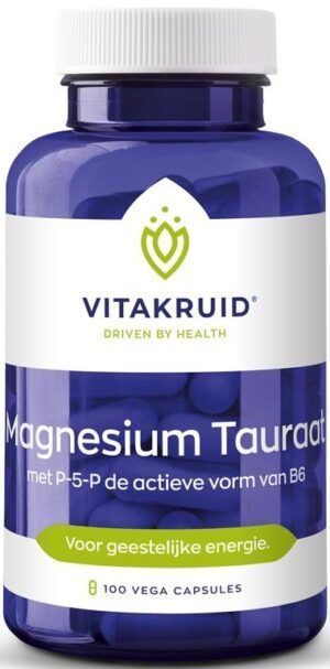 Magnesium Tauraat met P-5-P 100 capsules Vitakruid