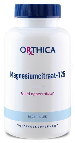 Magnesiumcitraat 125 90 capsules Orthica