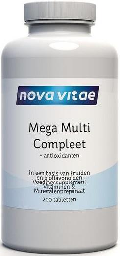 Mega Multi Compleet 200 tabletten - Nova Vitae