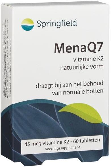 MenaQ7 vitamine K2 45 mcg 60 tabletten - Springfield