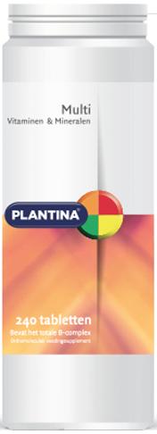 Multi Vitaminen en Mineralen 240 tabletten - Plantina