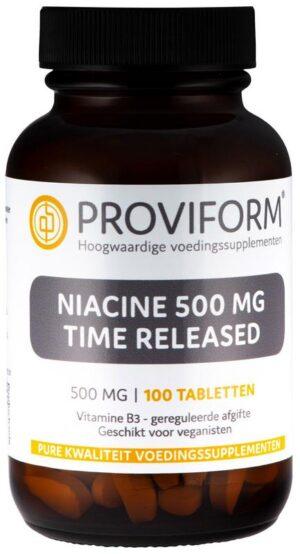Niacine 500 mg Time Released 100 tabletten - Proviform