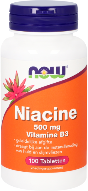 Niacine 500 mg Vitamine B3 100 tabletten - Now