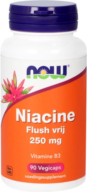 Niacine Flush Vrij 250 mg 90 capsules - Now