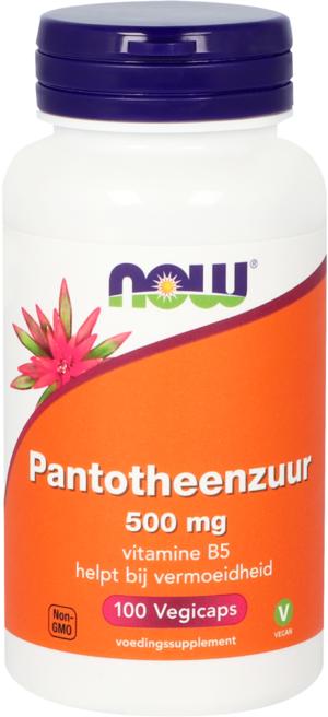 Pantotheenzuur 500 mg Vitamine B5 100 capsules - Now