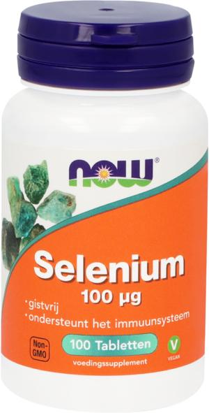 Selenium 100 mcg Gistvrij 100 tabletten - Now