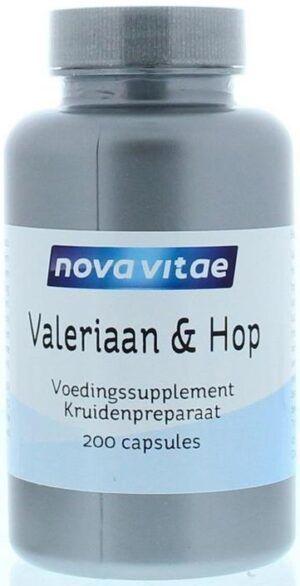 Valeriaan en Hop 200 capsules Nova Vitae