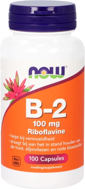 Vitamine B2 100 mg Riboflavine 100 capsules - Now