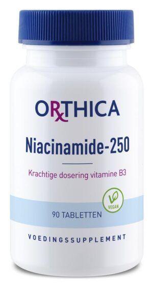 Vitamine B3 Niacinamide 250 90 tabletten Orthica