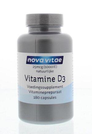 Vitamine D3 25 mcg 1000 IE 180 capsules Nova Vitae