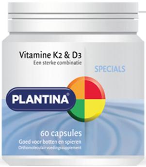 Vitamine K2 en D3 60 capsules - Plantina