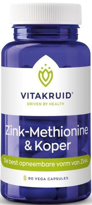 Zink Methionine en Koper 90 capsules Vitakruid