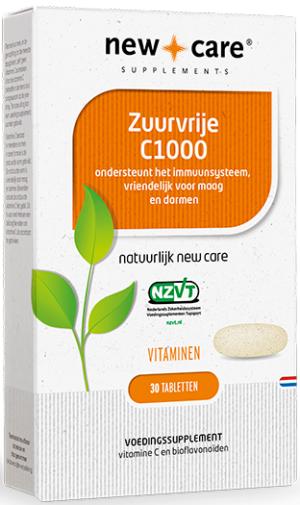 Zuurvrije C1000 30 tabletten - New Care