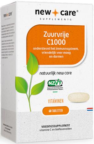 Zuurvrije C1000 60 tabletten - New Care