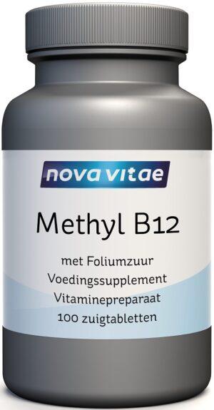 Methyl B12 Foliumzuur 100 zuigtabletten - Nova Vitae