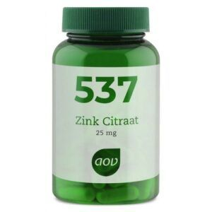537 Zink Citraat 25 mg 90 capsules AOV