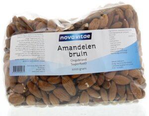 Amandelen Bruin Ongebrand 1000 gram Nova Vitae