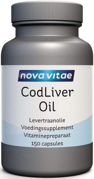 Cod Liver Oil Levertraanolie 150 capsules - Nova Vitae