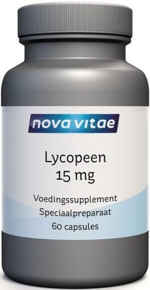 Lycopeen 15 mg 60 capsules Nova Vitae