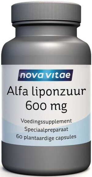 Alfa Liponzuur 600 mg 60 capsules Nova Vitae