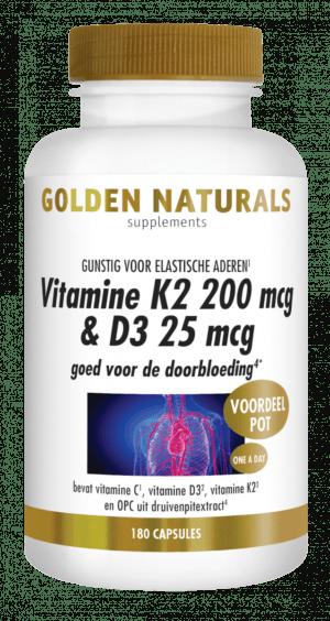 Vitamine K2 200 mcg en D3 25 mcg