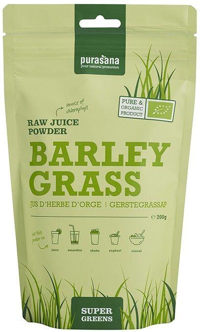 Barley Grass Raw Juice Powder 200 gram Purasana