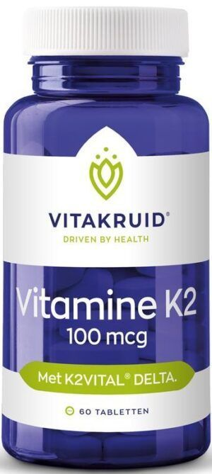 Vitamine K2 100 mcg 60 tabletten Vitakruid