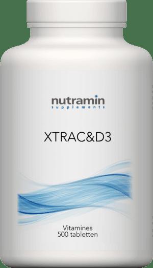 Xtra C en D3 Vitamines 500 tabletten Nutramin