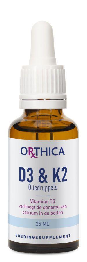 D3 en K2 Oliedruppels 25 ml Orthica