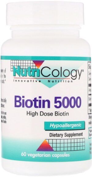 Biotin 5000 High Dose Biotin 60 capsules Nutricology