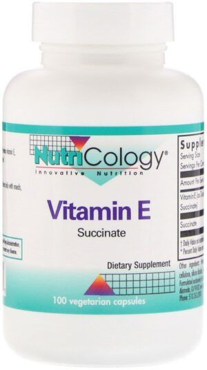 Vitamine E succinaat 100 capsules Nutricology