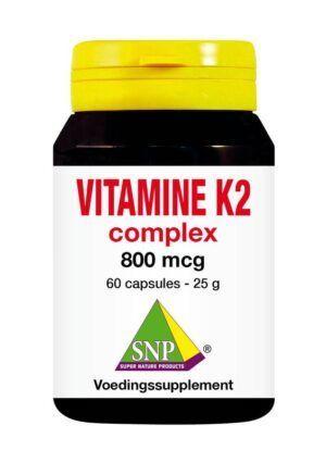 Vitamine K2 Complex 800 mcg 60 capsules SNP