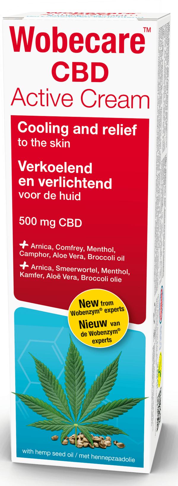 Wobecare CBD Active Cream 100 ml Wobenzym