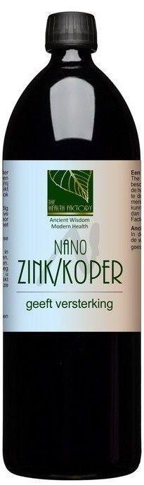 Nano Zink en Koper 1000 ml The Health Factory