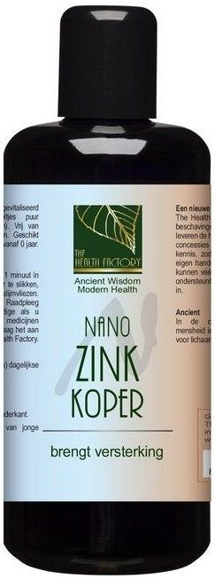 Nano Zink en Koper 200 ml The Health Factory