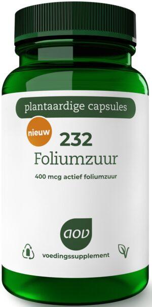 232 Foliumzuur 400 mcg 60 capsules - AOV