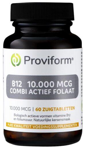 B12 10.000 mcg Combi Actief Folaat 60 tabletten - Proviform