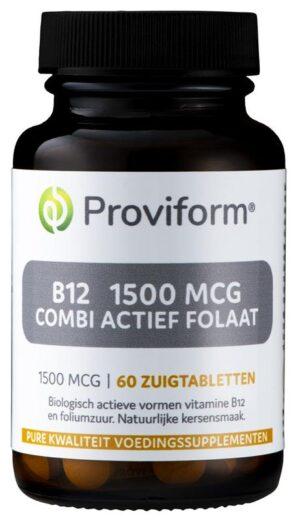 B12 1500 mcg Combi Actief Folaat 60 tabletten - Proviform