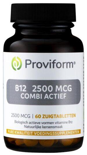 B12 2500 mcg Combi Actief 60 tabletten - Proviform