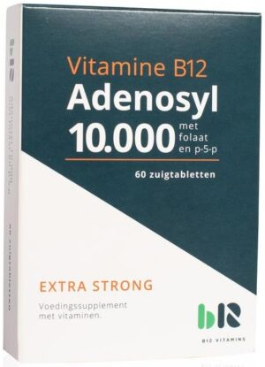 Vitamine B12 Adenosyl 10.000 60 tabletten - B12 Vitamins