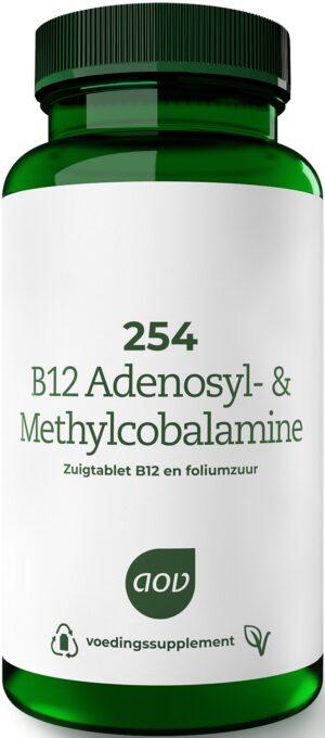 254 B12 Adenosyl en Methylcobalamine 120 tabletten - AOV