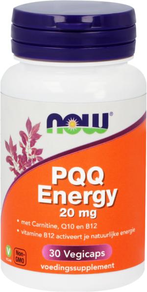 PQQ Energy 20 mg 30 capsules - Now