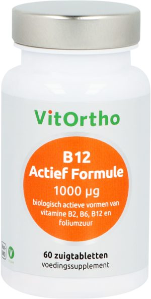 B12 Actief Formule 1000 mcg 60 tabletten - VitOrtho