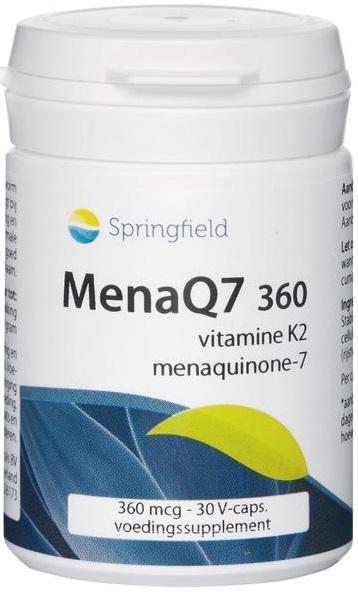 MenaQ7 Vitamine K2 360 mcg - Springfield